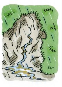 がけから急に水がわき出るわき水の量が急に増えたりふき出したり急に止まったりする水がにごる