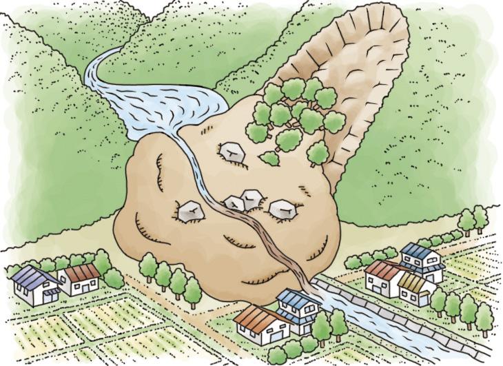 天然ダムの決壊①