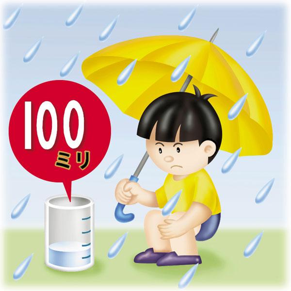 連続して100㎜以上の雨が降ったら<br>土砂災害に注意