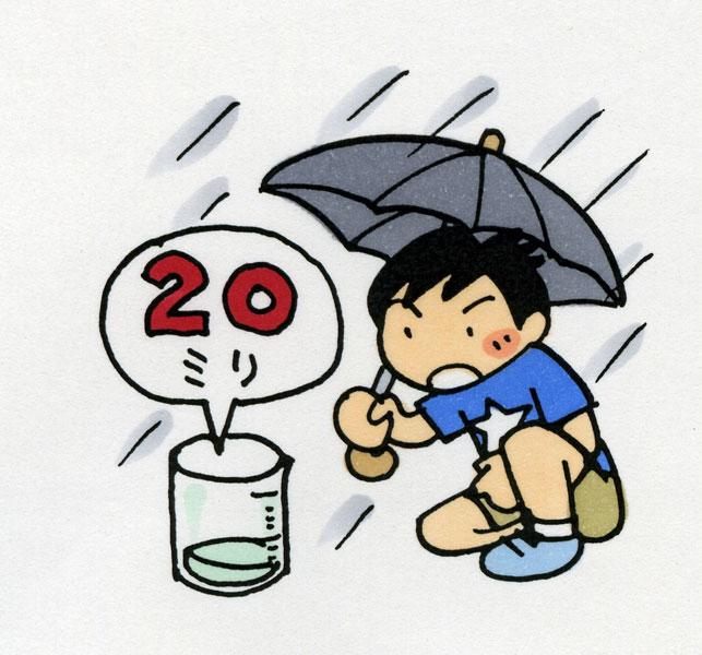 1時間に20㎜以上の雨降ったら<br>土砂災害に注意